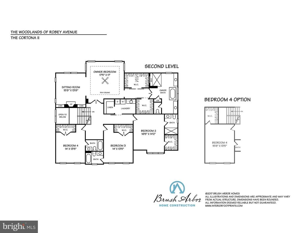 Upper Level Floor Plan - 8232 ROBEY AVE, ANNANDALE