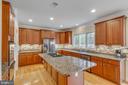 Kitchen w/Center Island - 11607 FOREST HILL CT, FAIRFAX