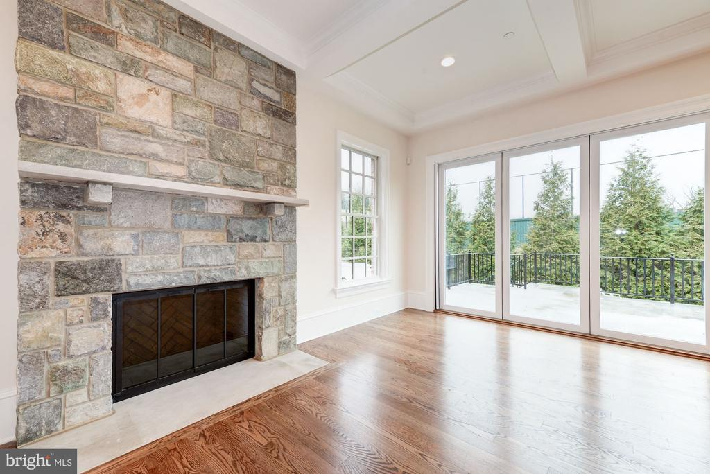 Stone Family Room Fireplace - 4513 HOBAN RD NW, WASHINGTON