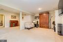 Expansive Lower Lvl w/Full Bath, Laundry & Rec Rm - 13309 FOXHOLE DR, FAIRFAX