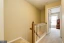 Upper Level w/ Wood Railing Above Staircase - 13309 FOXHOLE DR, FAIRFAX