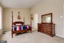 Large, Sunny Master Bedroom w/ Vaulted Ceiling - 13309 FOXHOLE DR, FAIRFAX