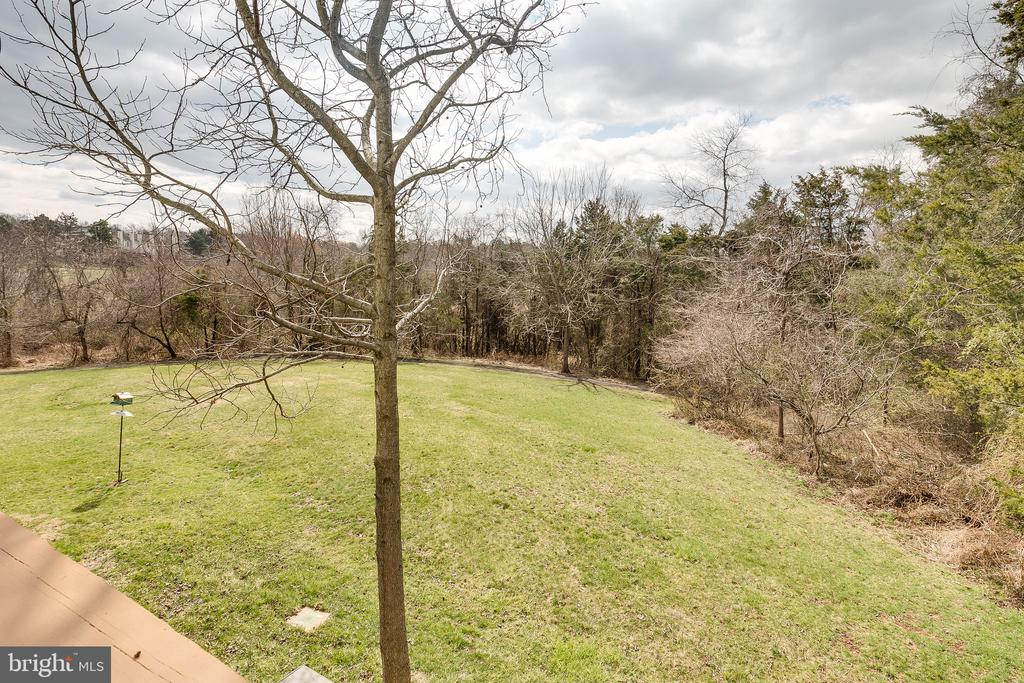 View from Main Level Deck - 13309 FOXHOLE DR, FAIRFAX