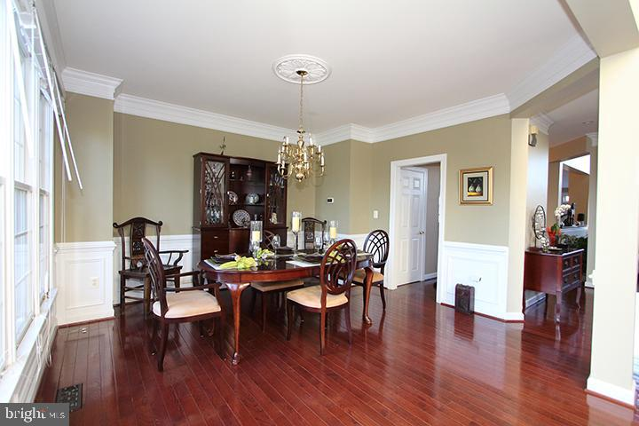 Dining Room with gleaming hardwood floors - 40674 JADE CT, LEESBURG