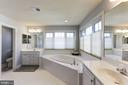 Owner's Bath with Soaking Tub - 44136 RIVERPOINT DR, LEESBURG