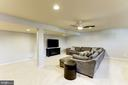 Lower Level Recreation room Freshly Painted with - 44136 RIVERPOINT DR, LEESBURG