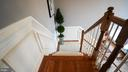 1ST STAIRCASE VIEW FROM 2ND FLOOR - 20563 NOLAND WOODS CT, POTOMAC FALLS