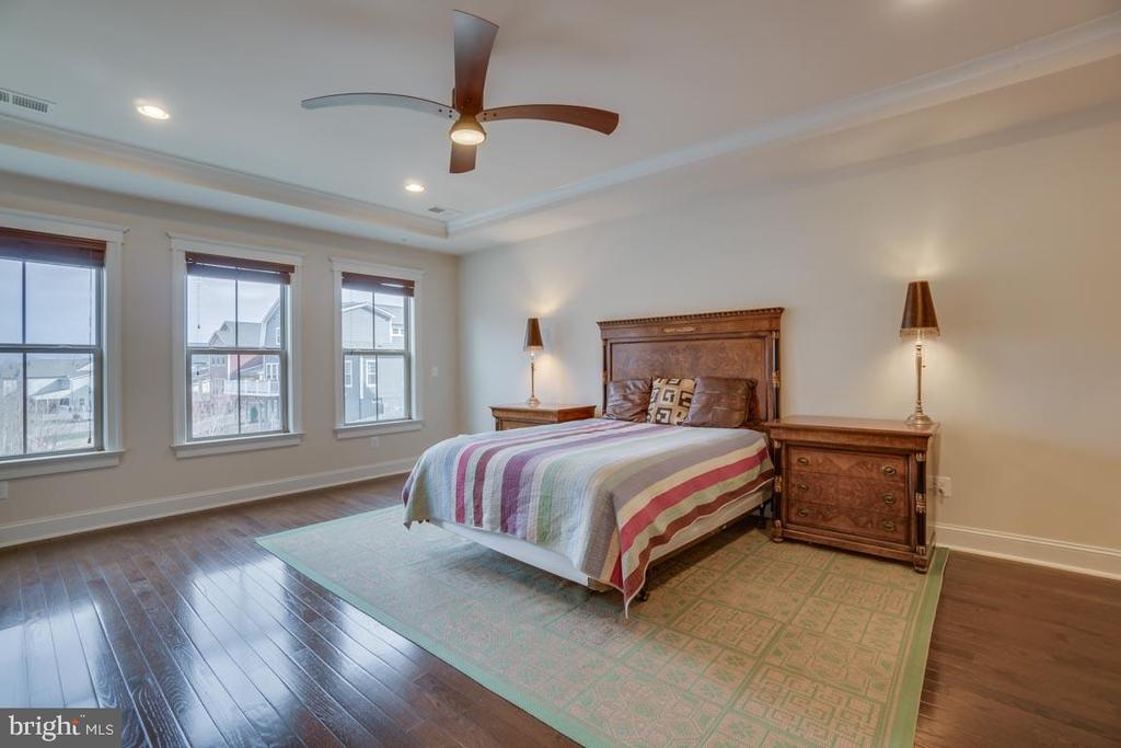 Spacious master bedroom with tray ceilings - 2192 POTOMAC RIVER BLVD, DUMFRIES