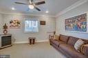 Lower level with ceiling fan - 2192 POTOMAC RIVER BLVD, DUMFRIES
