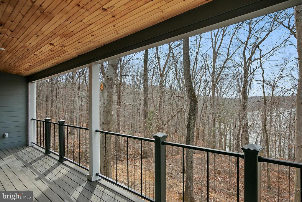 Another view of the master balcony. Winter view - 6027 TULIP POPLAR CT, MANASSAS