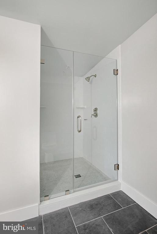 Lower level bath shower. - 6027 TULIP POPLAR CT, MANASSAS