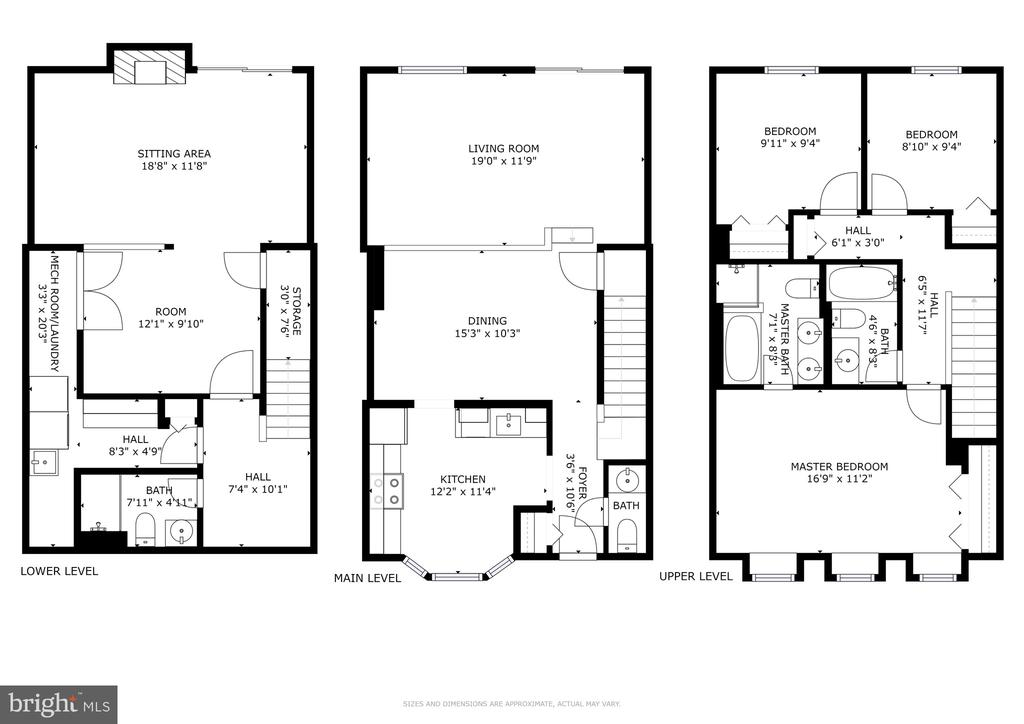 Blair Model Floor Plan - 13309 FOXHOLE DR, FAIRFAX