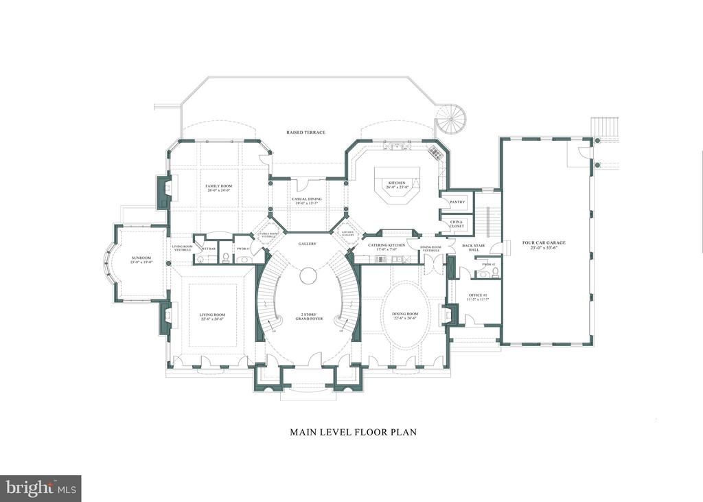 Floor Plan - Main Level - 1171 CHAIN BRIDGE RD, MCLEAN