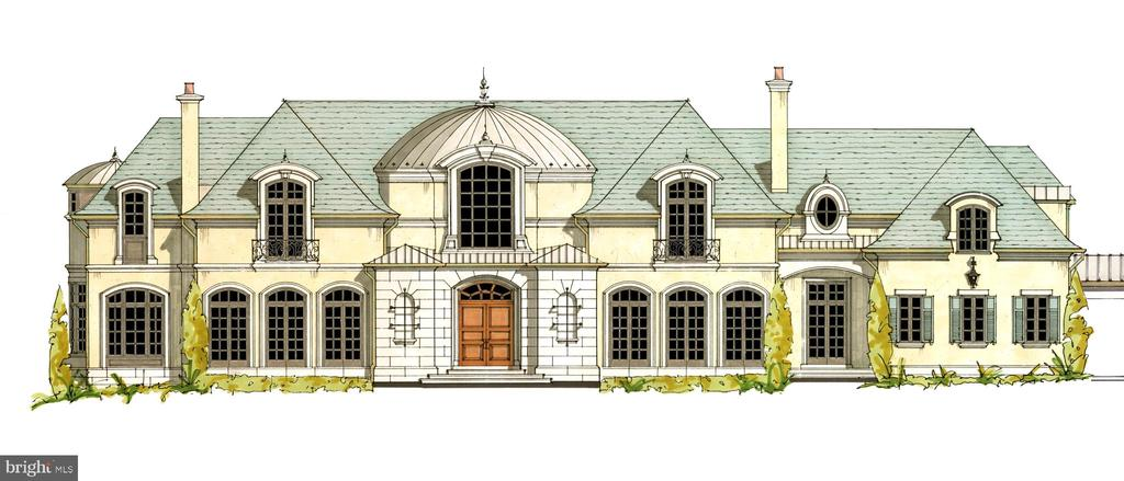 Front Elevation - Main House - 1171 CHAIN BRIDGE RD, MCLEAN