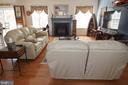 Main level family room w gas fireplace - 9416 EVERETTE CT, SPOTSYLVANIA