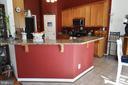 Main level kitchen eat at bar - 9416 EVERETTE CT, SPOTSYLVANIA