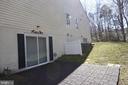 Basement level patio - 9416 EVERETTE CT, SPOTSYLVANIA