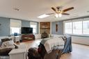 Family room addition with ceiling fan - 28 BREEZY HILL DR, STAFFORD