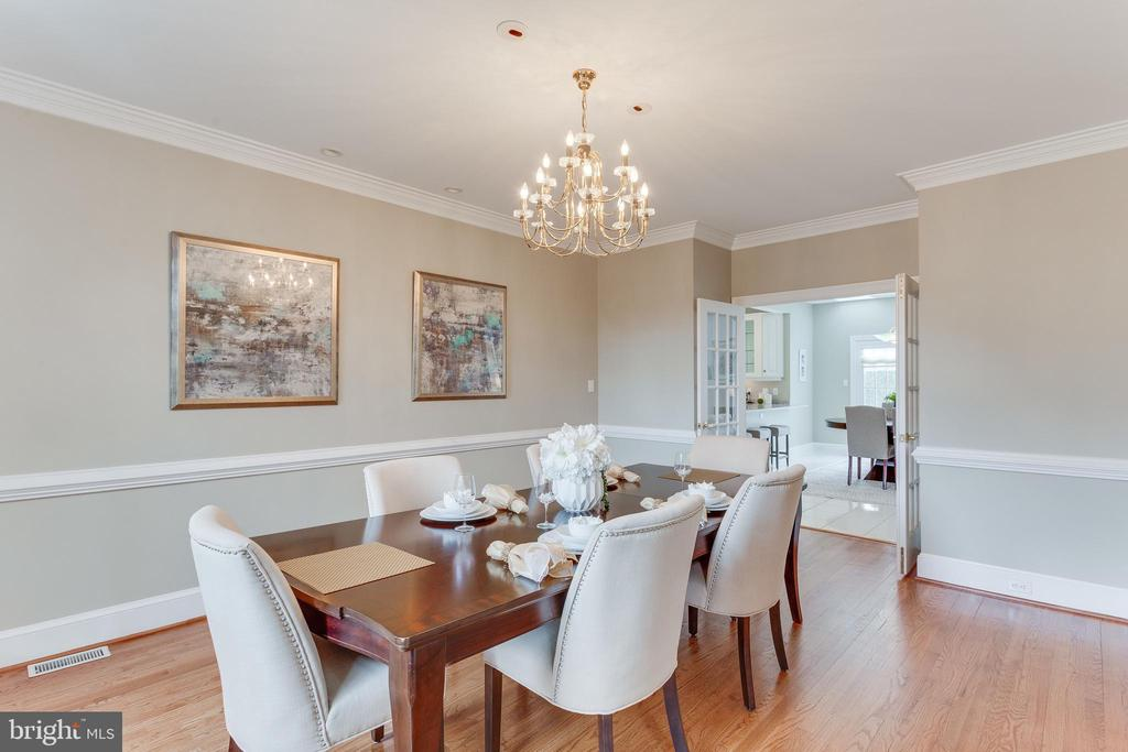 Spacious Formal Dining room. - 2107 POLO POINTE DR, VIENNA