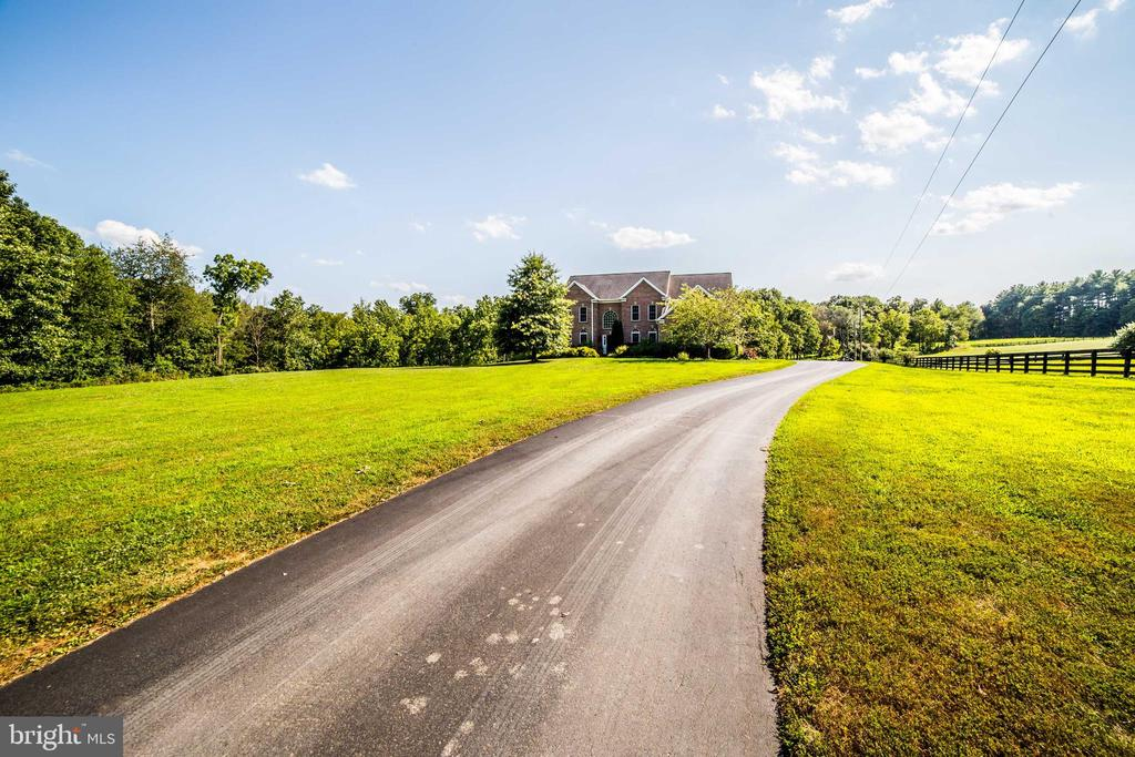 Summer view of driveway to home - 36895 LEITH LN, MIDDLEBURG
