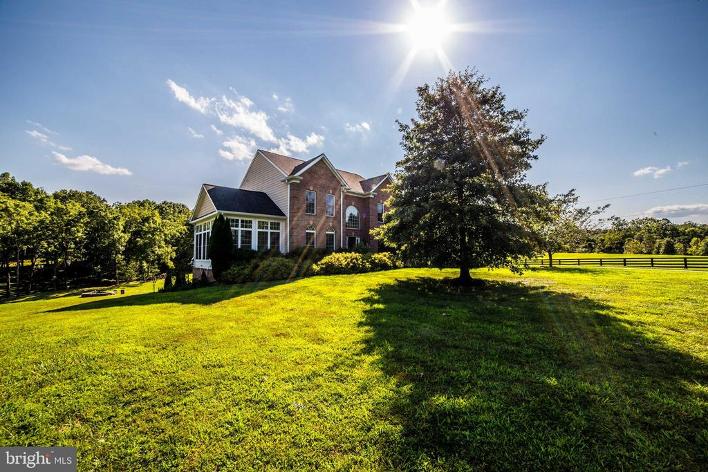 Summer view of side of grounds and house - 36895 LEITH LN, MIDDLEBURG