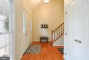 Foyer with Coat Closet! - 9 BANKSTON CT, STAFFORD
