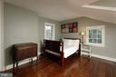 The rich hardwood floors extend to the top level - 317 S SAINT ASAPH ST, ALEXANDRIA