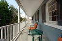 A Charleston-like porch/balcony on the 2nd level - 317 S SAINT ASAPH ST, ALEXANDRIA