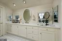 A long vanity with vistas of the garden below - 317 S SAINT ASAPH ST, ALEXANDRIA