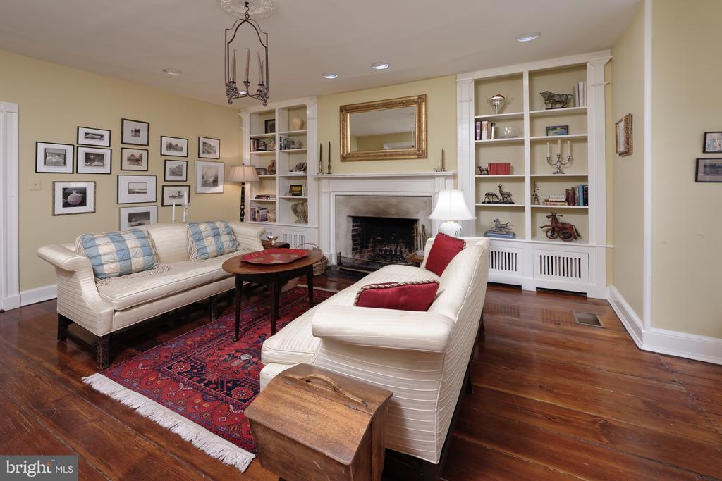 LR offers a wood burning FP flanked by built-ins - 317 S SAINT ASAPH ST, ALEXANDRIA