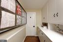 A hyphen hall with storage and a quaint half bath - 317 S SAINT ASAPH ST, ALEXANDRIA