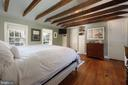 Wood beamed ceilings featured in this special MBR - 317 S SAINT ASAPH ST, ALEXANDRIA