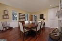 Wainscoting surrounds the formal dining room - 317 S SAINT ASAPH ST, ALEXANDRIA