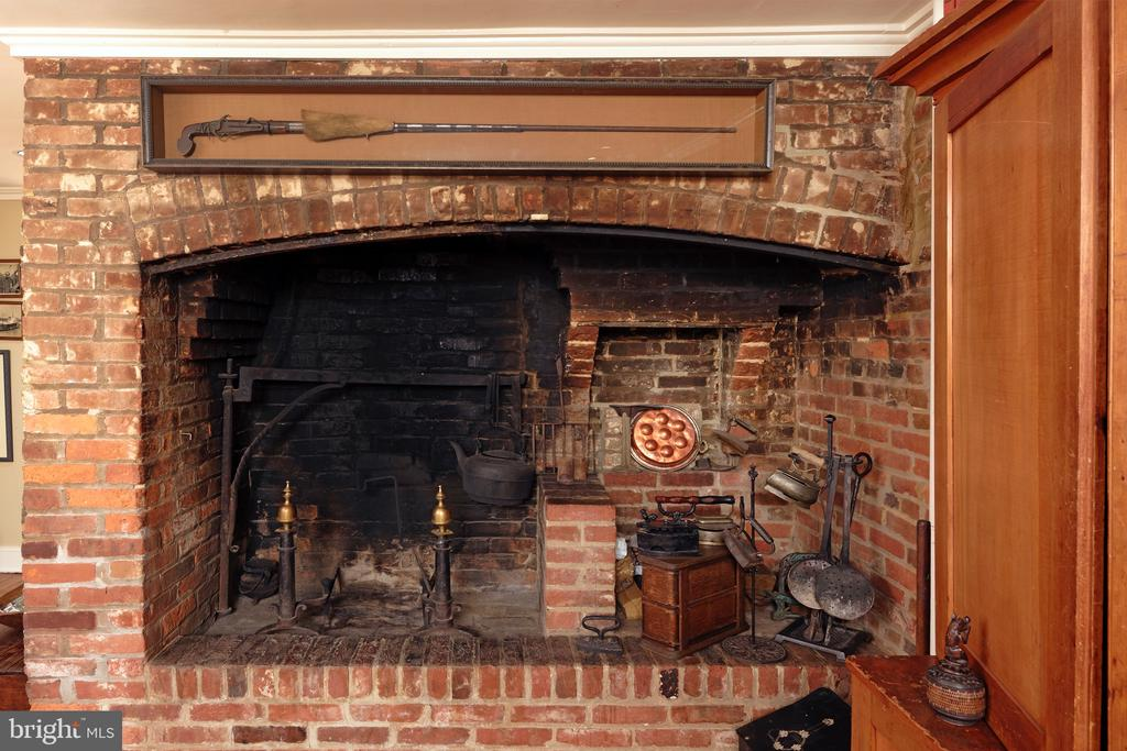 FR fireplace features a cooking arm centuries old - 317 S SAINT ASAPH ST, ALEXANDRIA