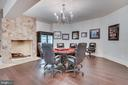 Poker Room with Propane Fireplace - 22662 CREIGHTON FARMS DR, LEESBURG