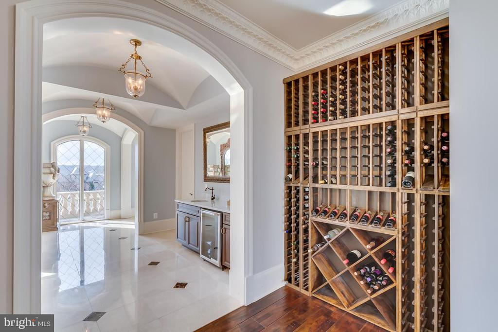 Wine Rack Located in Kitchen Entrance - 22662 CREIGHTON FARMS DR, LEESBURG