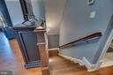 Stair Case leading down to detached garage - 22662 CREIGHTON FARMS DR, LEESBURG