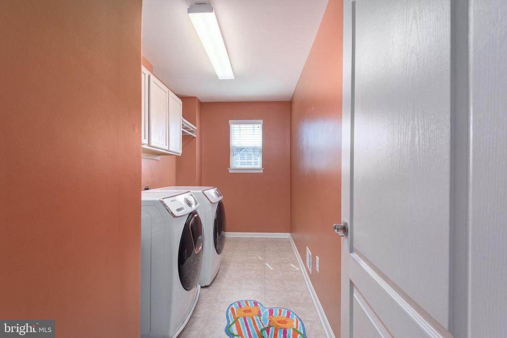 Upstairs laundry room - 181 MILL RACE RD, STAFFORD