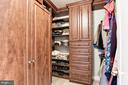 First Walk-In Closet with Custom Organization - 43230 PARKERS RIDGE DR, LEESBURG