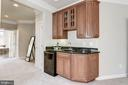 Bar with Sink and Refrigerator - 43230 PARKERS RIDGE DR, LEESBURG