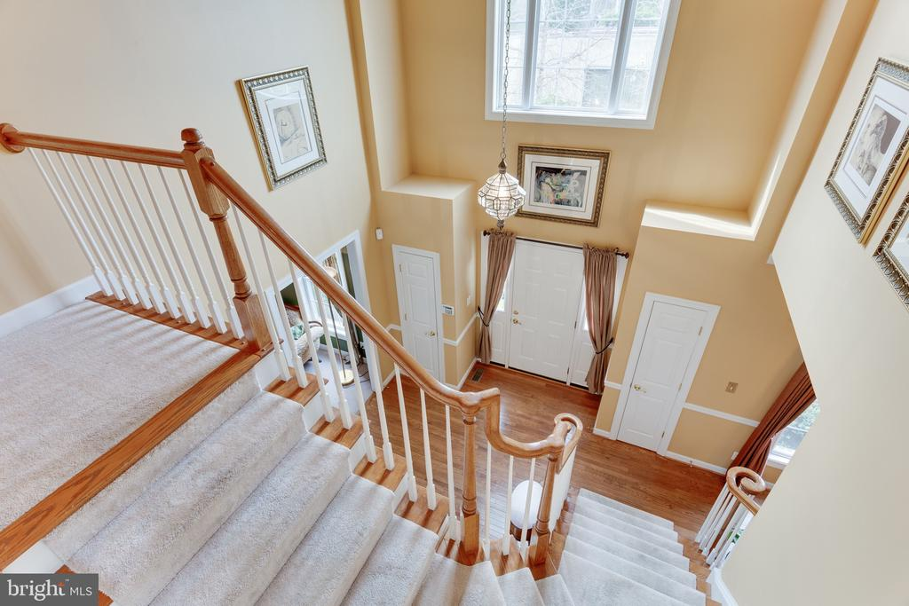 View from upper level to entrance/foyer - 4112 FERRY LANDING RD, ALEXANDRIA