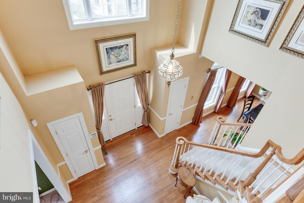 Looking down from upper level to foyer - 4112 FERRY LANDING RD, ALEXANDRIA