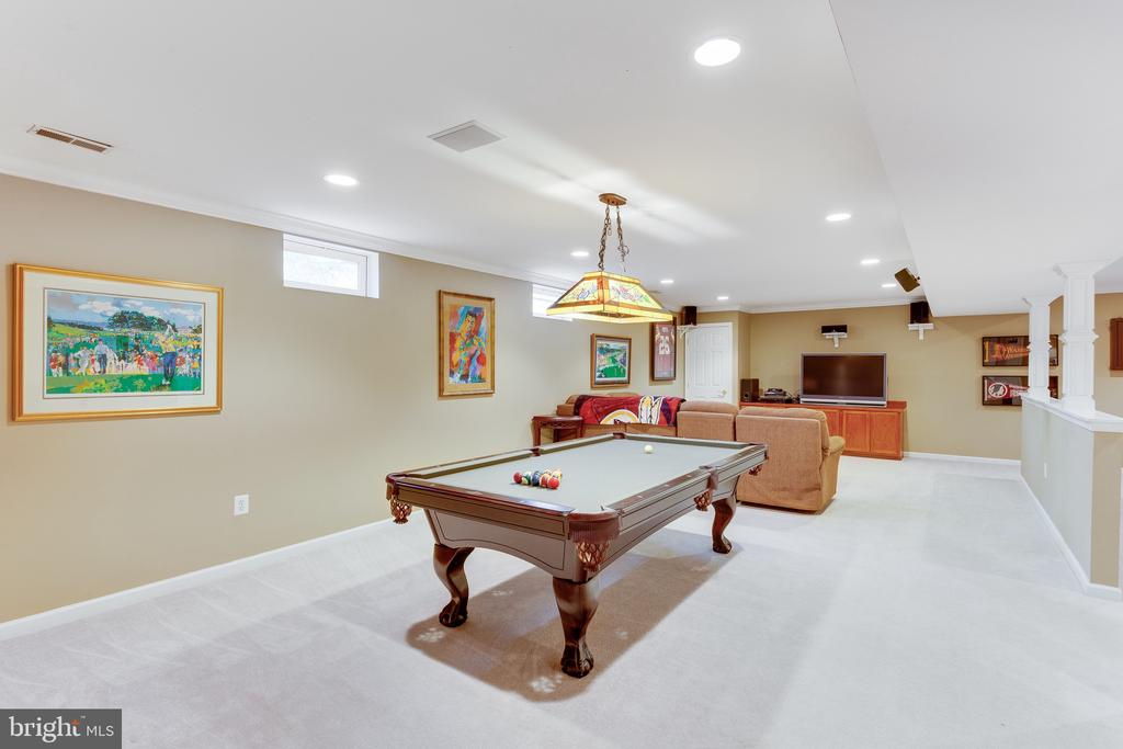 Large lower level recreation room for all - 4112 FERRY LANDING RD, ALEXANDRIA