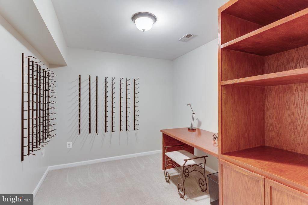 Wine cellar/storage/hobby room off LL suite - 4112 FERRY LANDING RD, ALEXANDRIA