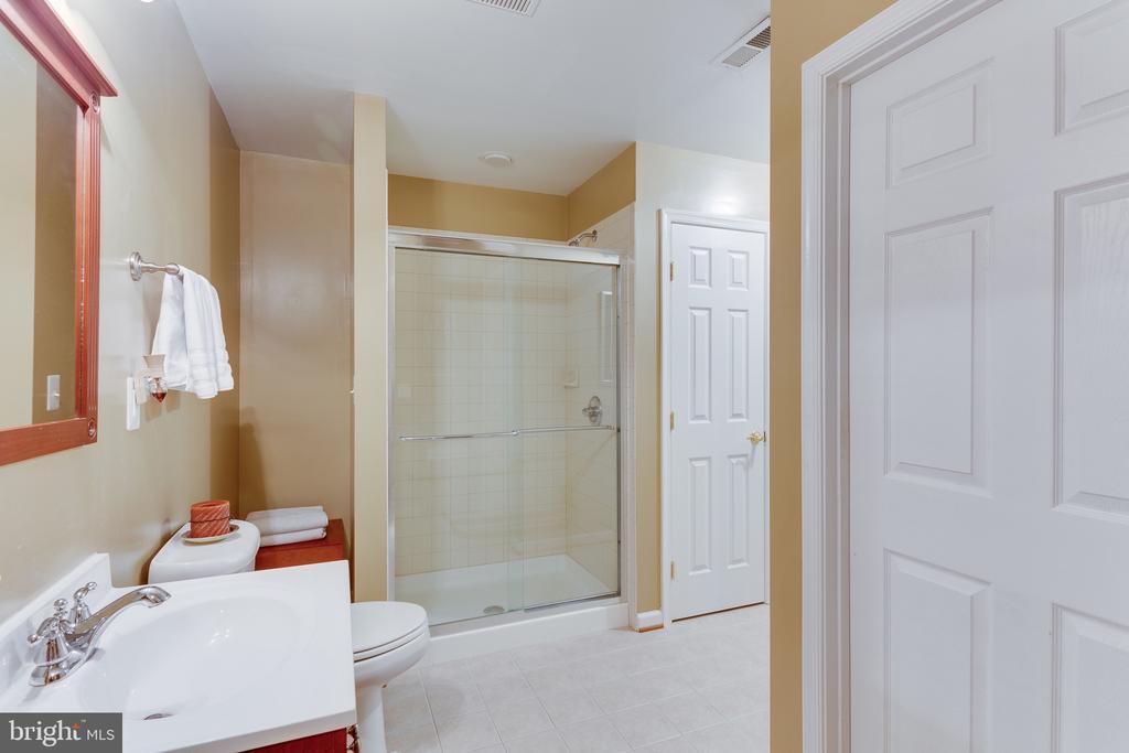 En suite bath with glass shower enclosure - 4112 FERRY LANDING RD, ALEXANDRIA