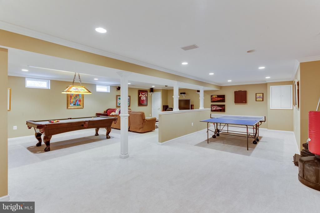 Expansive game room on lower level - 4112 FERRY LANDING RD, ALEXANDRIA