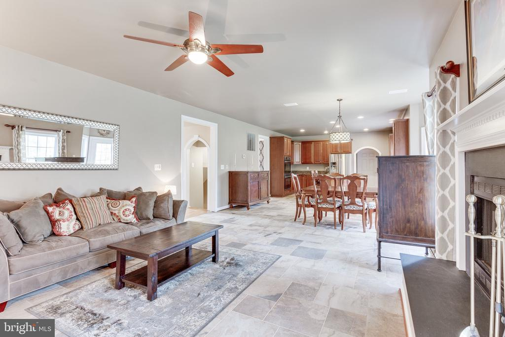 Family room with wood burning fireplace - 4112 FERRY LANDING RD, ALEXANDRIA