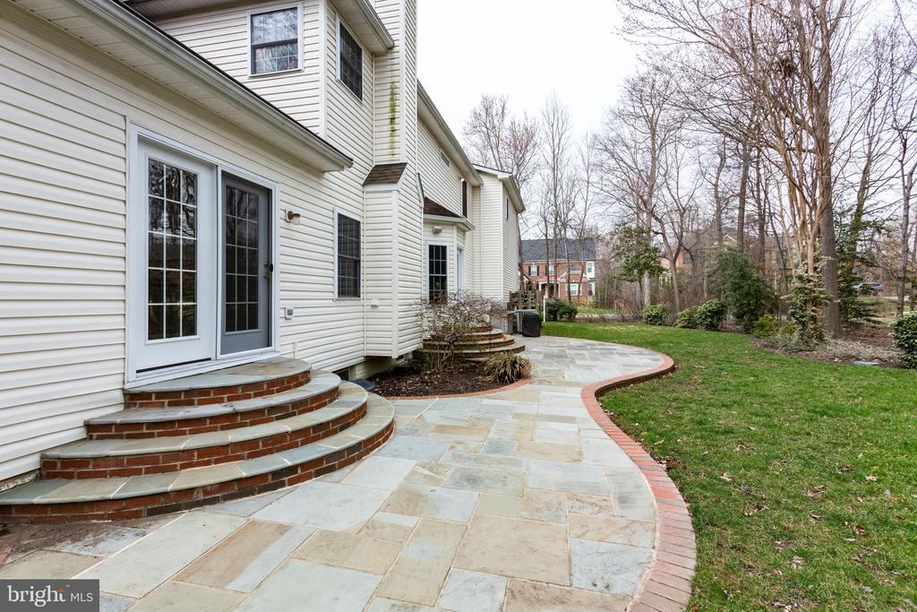 Walk out the French doors from kitchen to grill - 4112 FERRY LANDING RD, ALEXANDRIA