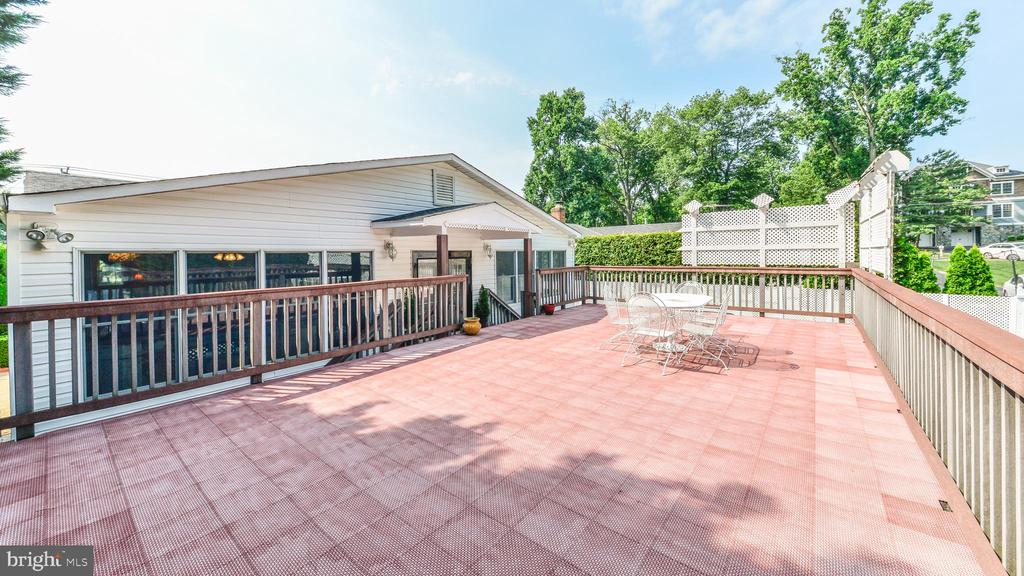 LARGE DECK ABOVE CARPORT - 7138 SHREVE RD, FALLS CHURCH
