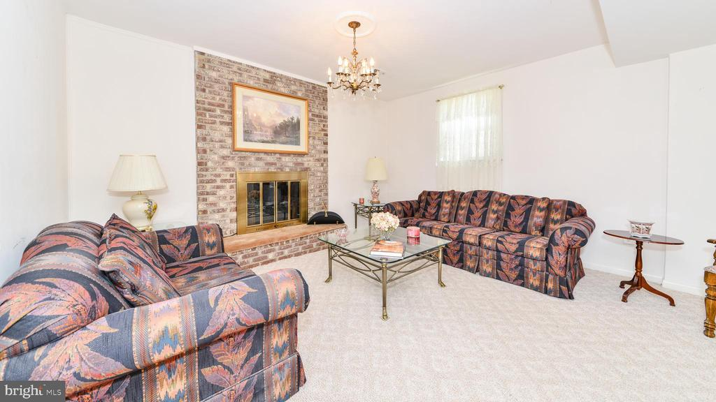 TRADITIONAL BASEMENT WITH FIREPLACE - 7138 SHREVE RD, FALLS CHURCH